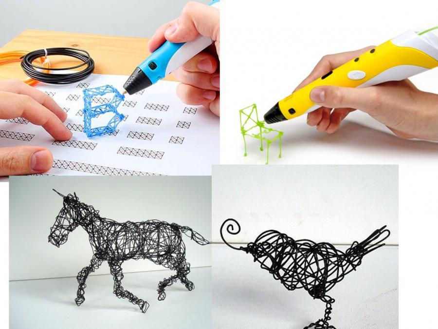 Открытка с помощью 3д ручки