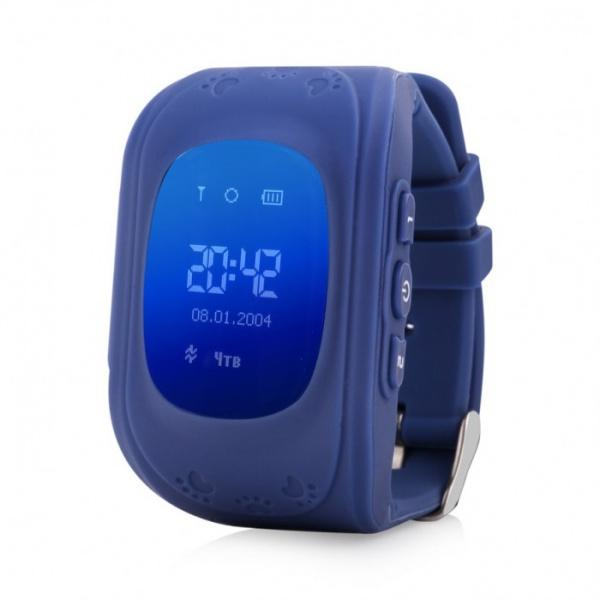 Часы с GPS Smart Baby Watch Q50 синие