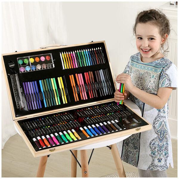 Набор для рисования в деревянном чемоданчике «Art Set»