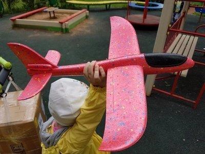 Метательный самолет-планер розовый